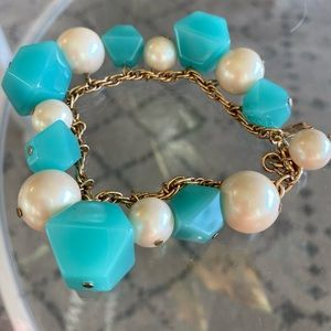 Aqua and Pearlescent Kate Spade Bracelet Gorgeous